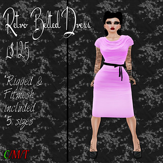 SC Retro Belted Dress - Pink Ad