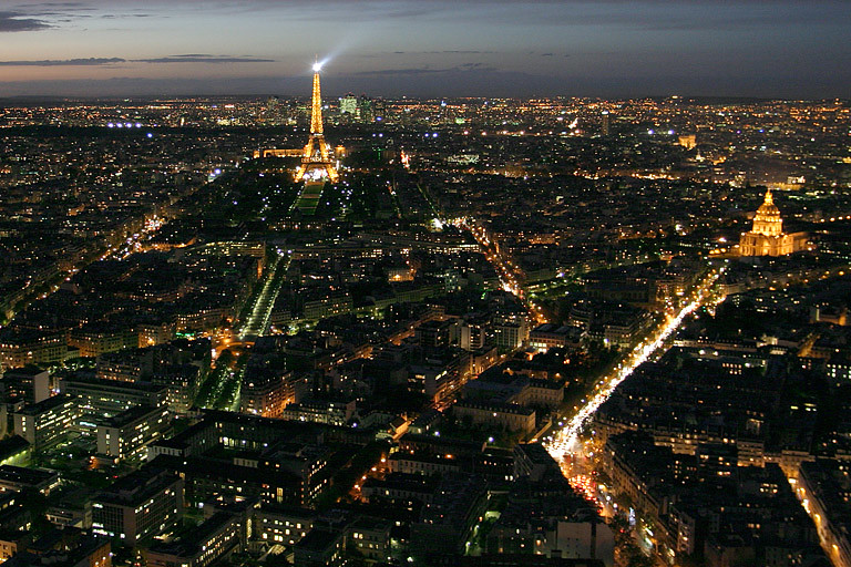 The view from Tour Montparnasse, Paris
