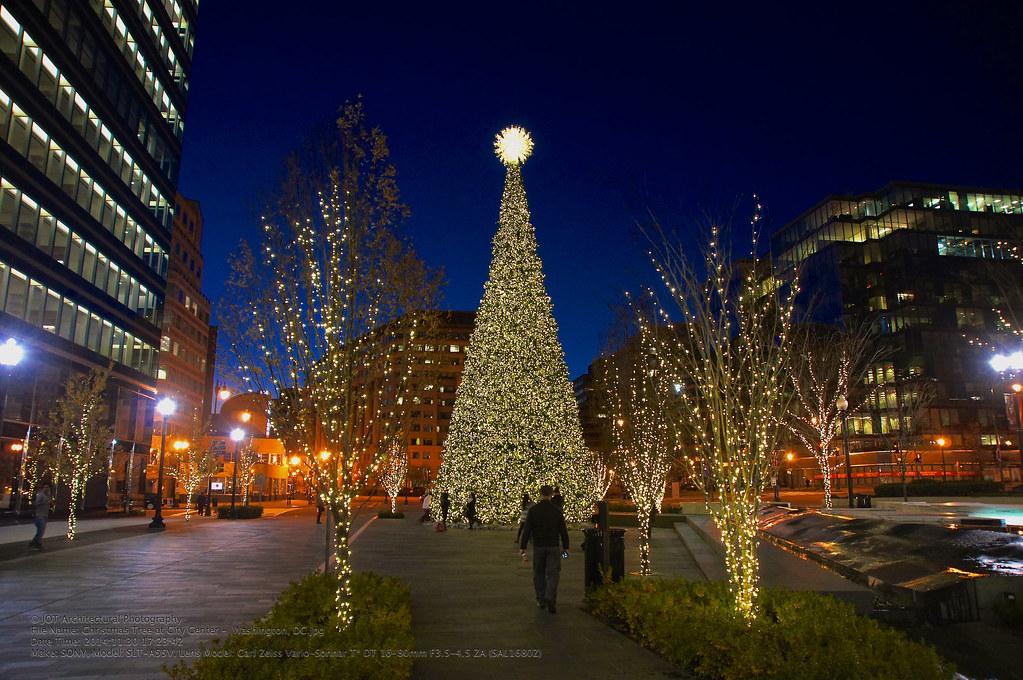 Christmas Time In Washington Dc.Christmas Tree At City Center Washington Dc This Christ
