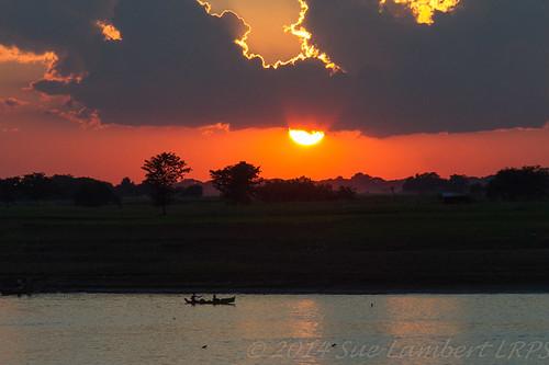 sunset cloud silhouette river fishing sundown fishingboat ayeyarwady myanmarburma riverirrawaddi