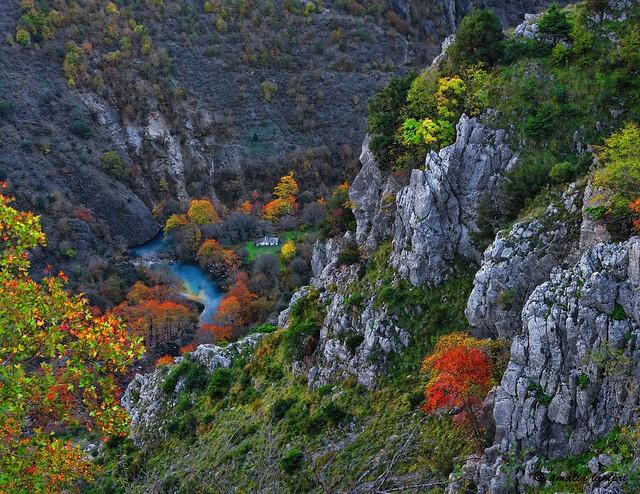 November colors at Vikos gorge,Zagori