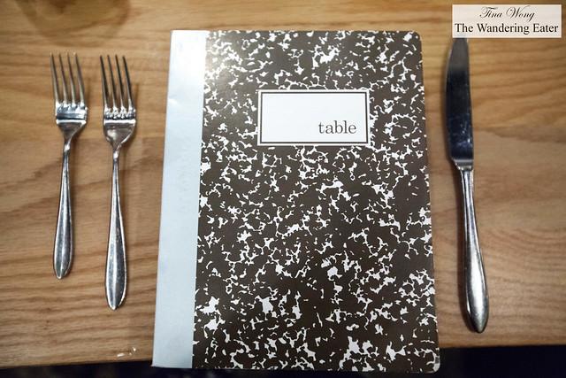 Table's menu