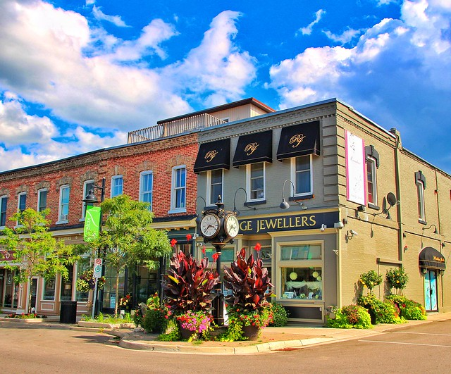 Uxbridge Onatrio ~ Canada ~ Rutledge Jewelers ~ Former Grocery Store /Dry Goods ~ Heritage Block