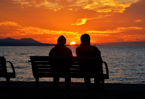family sunset two people lake nature silhouette chair couple dusk tie husbandandwife lakeside romantic shimane 夕日 matsue shinji lakeshinji 松江 島根 宍道湖 2485mm d7100 shinjilake