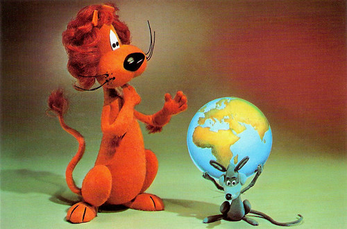 Loeki the Lion and his friend Piep the Mouse