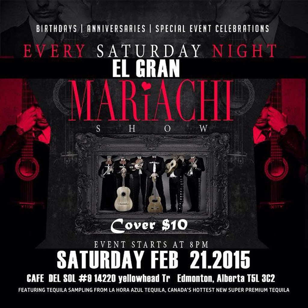 Great mariachi night at cafe del sol 9pm - 2:30 am cover