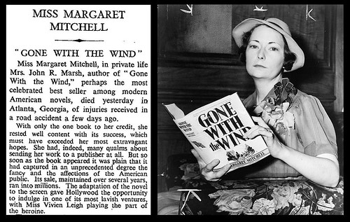 "16th August 1949 - Death of Miss Margaret Mitchell (author of ""Gone With The Wind"") 