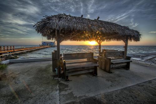 ocean sunrise pier unitedstates florida rodandreel landscapephotography annamariaisland manateecounty