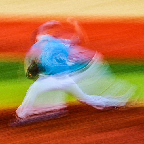 An #abstract #baseball shot from this weekend, trying to fit a whole #pitch into a single frame. #art