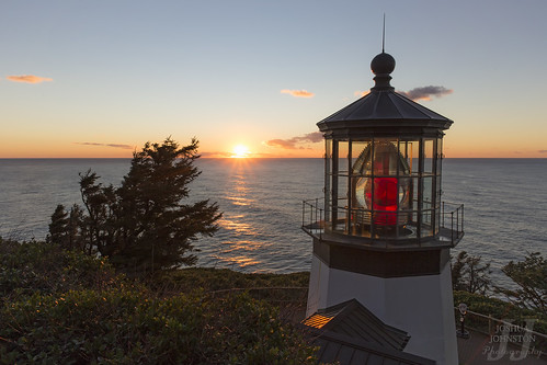 sunset lighthouse oregon oregoncoast capemeareslighthouse canon6d canon24mm28is joshuajohnston