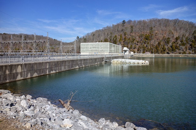 Melton Hill Dam, Clinch River, Loudon County, Tennessee