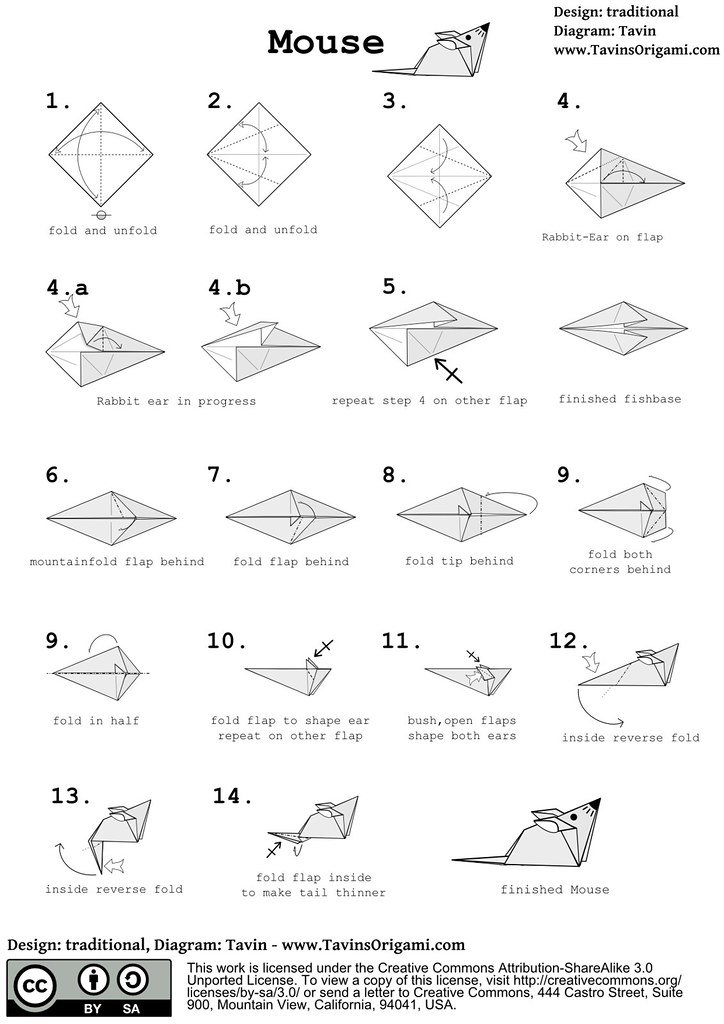 Origami Mouse Diagram
