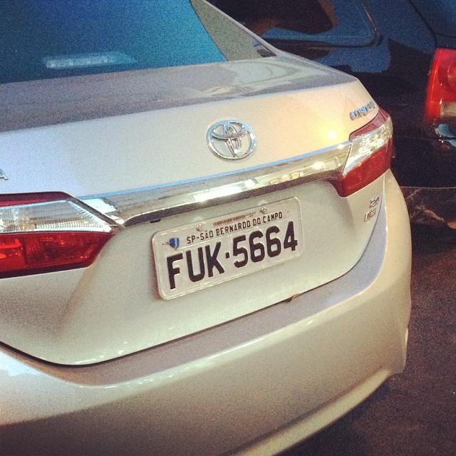 Carro In English >> Placa Em Ingles English Ingles Placa License Carro Flickr
