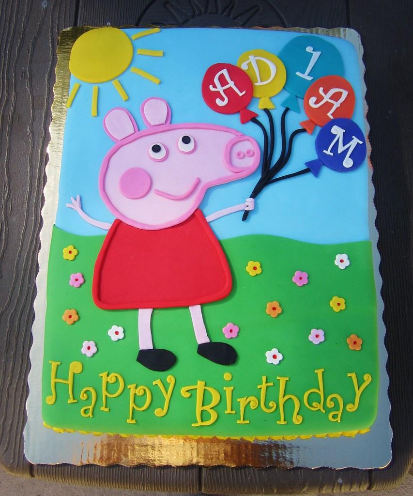 Peppa Pig Birthday Cake.Peppa Pig Birthday Cake Daniyellee Flickr