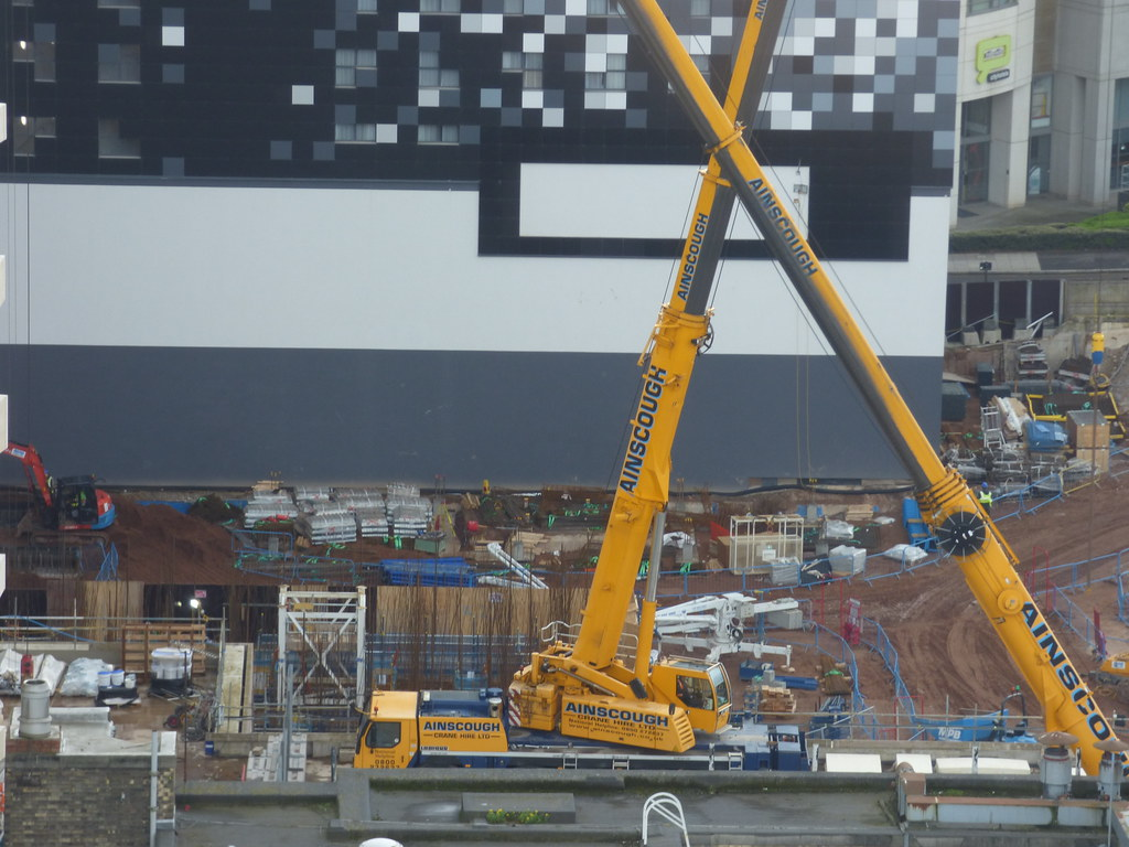 3 Arena Central - Ainscough mobile cranes | The Library of B