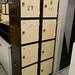 Steel 2 door unit comes with shelves E246