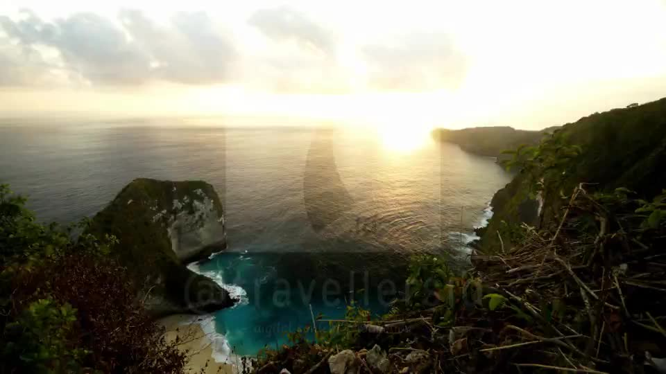 Sunset at Kelingking Beach, Nusa Penida, Bali