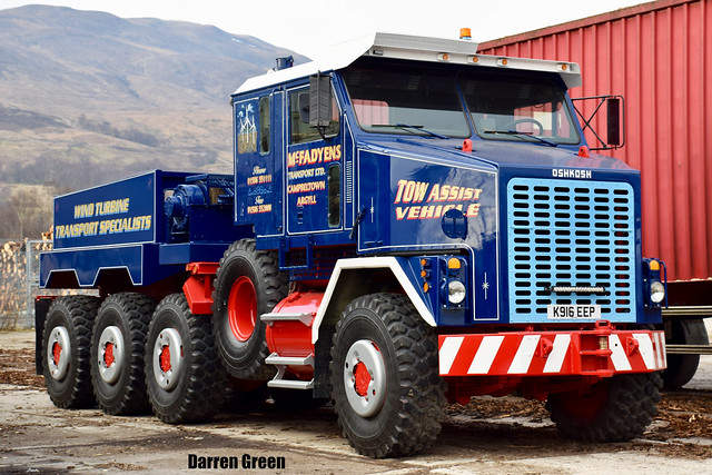 MCFADYENS TRANSPORT LTD OSHKOSH 8x8 K916 EEP