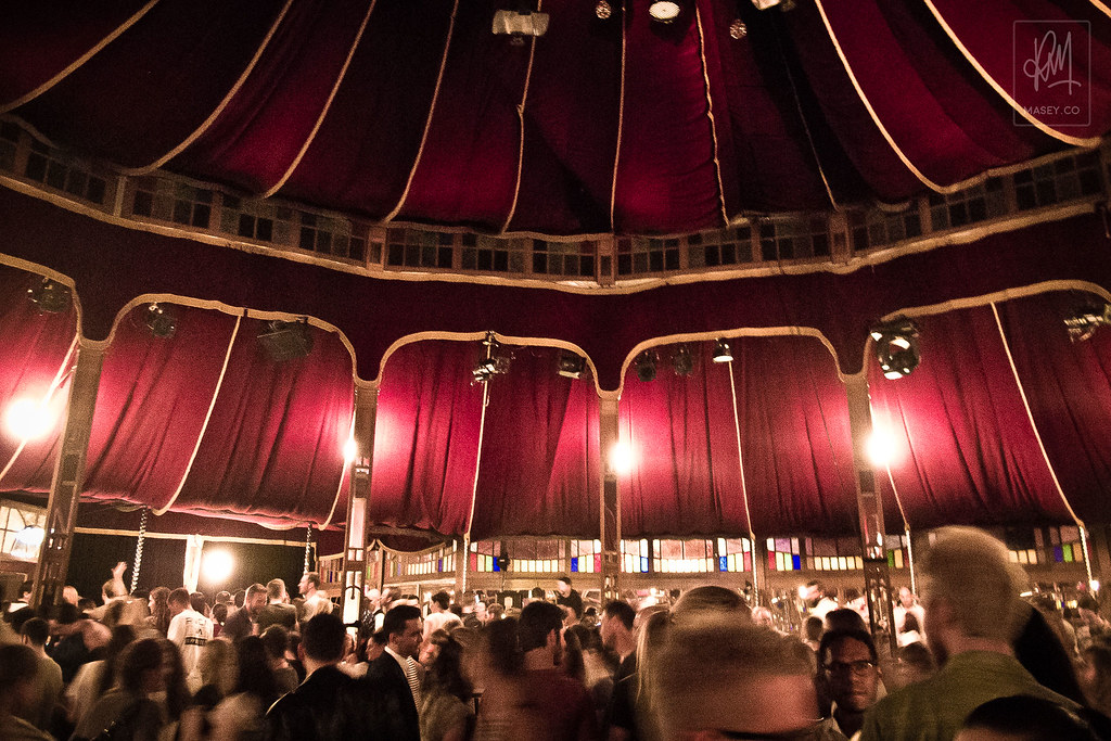 The ol' Spiegeltent projects somewhat of a 'Moulin Rouge' feel...