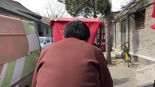 rickshaw through old Beijing