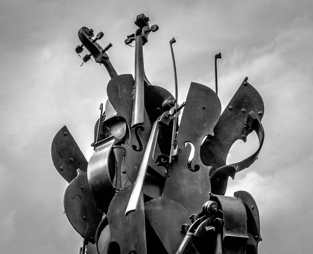 Cellos in the sky
