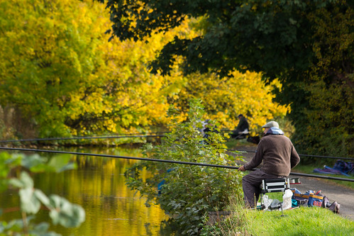 Fisherman on the Leeds Liverpool Canal