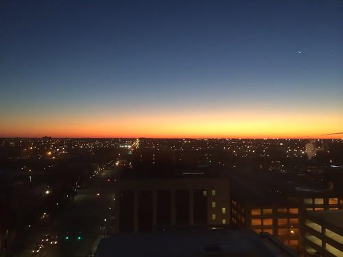 cityscape landscape sunrise dawn wichita kansas