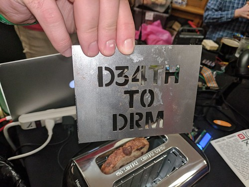 Burn plate, DRM toaster, Thotcon, Chicago, Illinois, USA | by gruntzooki