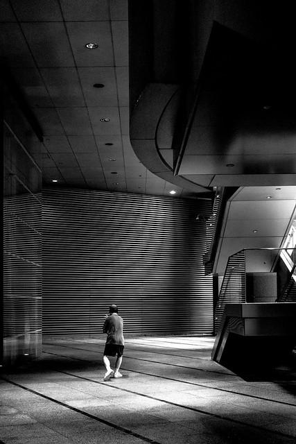 Tai Chi among financial buildings (Hong Kong)