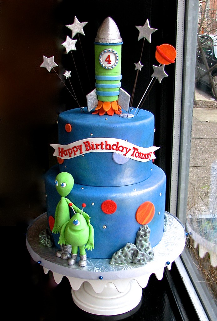 Sensational Outer Space 4Th Birthday Cake Sasa Flickr Funny Birthday Cards Online Sheoxdamsfinfo