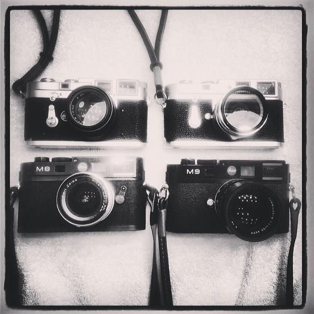 #Leica Dream Team - M2, M3, M8, M9 :) www.MrLeica.com
