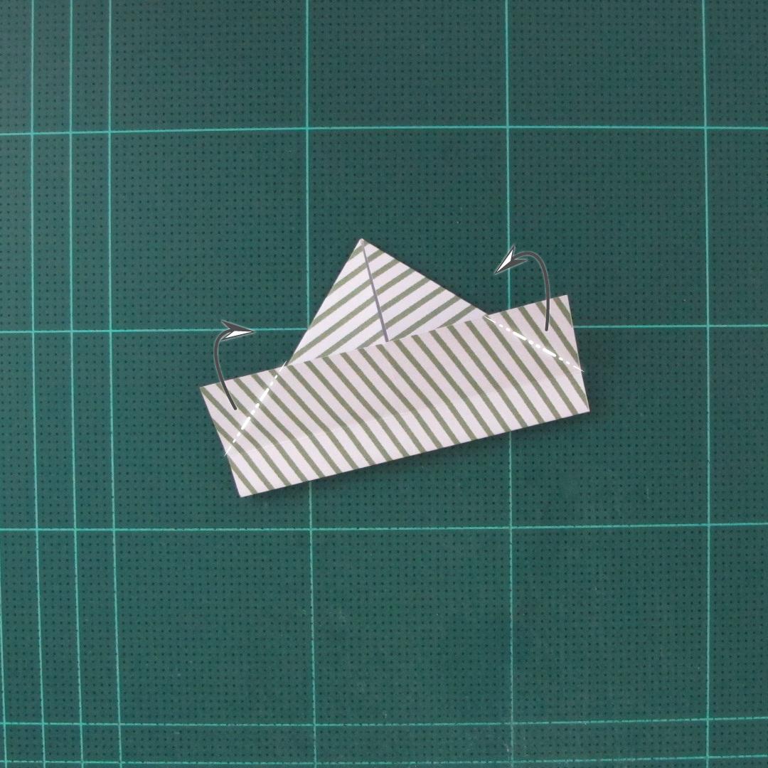 วิธีทำหรีดห้อยหน้าประตูสำหรับวันคริสต์มาส (Christmas wreath origami and papercraft) 011