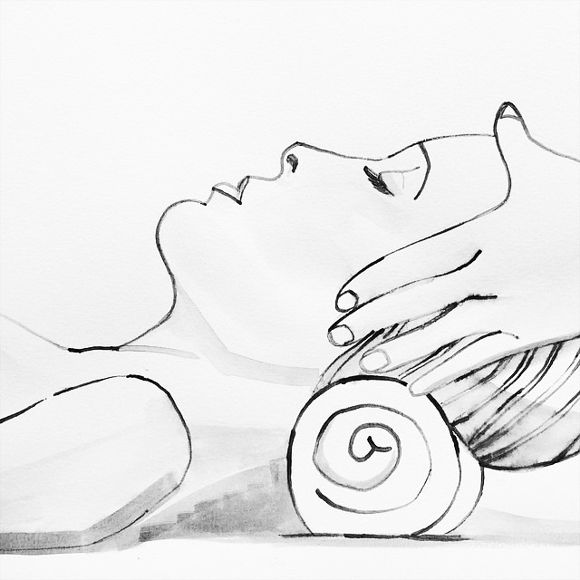 Meridian Shiatsu Illustration