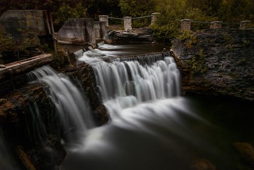 ontario canada summer long waterfall falls exposure southern area conservation wellington rockwood guelph eramosa
