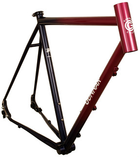 Gunnar Hyper-XX with Rosewood Metallic to Dark Blue Saphire Fade - Front View   by Gunnar Cycles