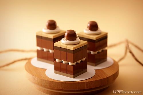 Chocolate Cake with Coffee Cream and Choco Ball on Top