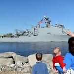USS Fort McHenry deploys.