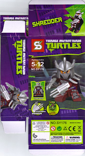 "Sheng Yuan TEENAGE MUTANT NINJA TURTLES :: ""SHREDDER"" Bootleg Minifigure Set / ..box ii (( 2014 )) 