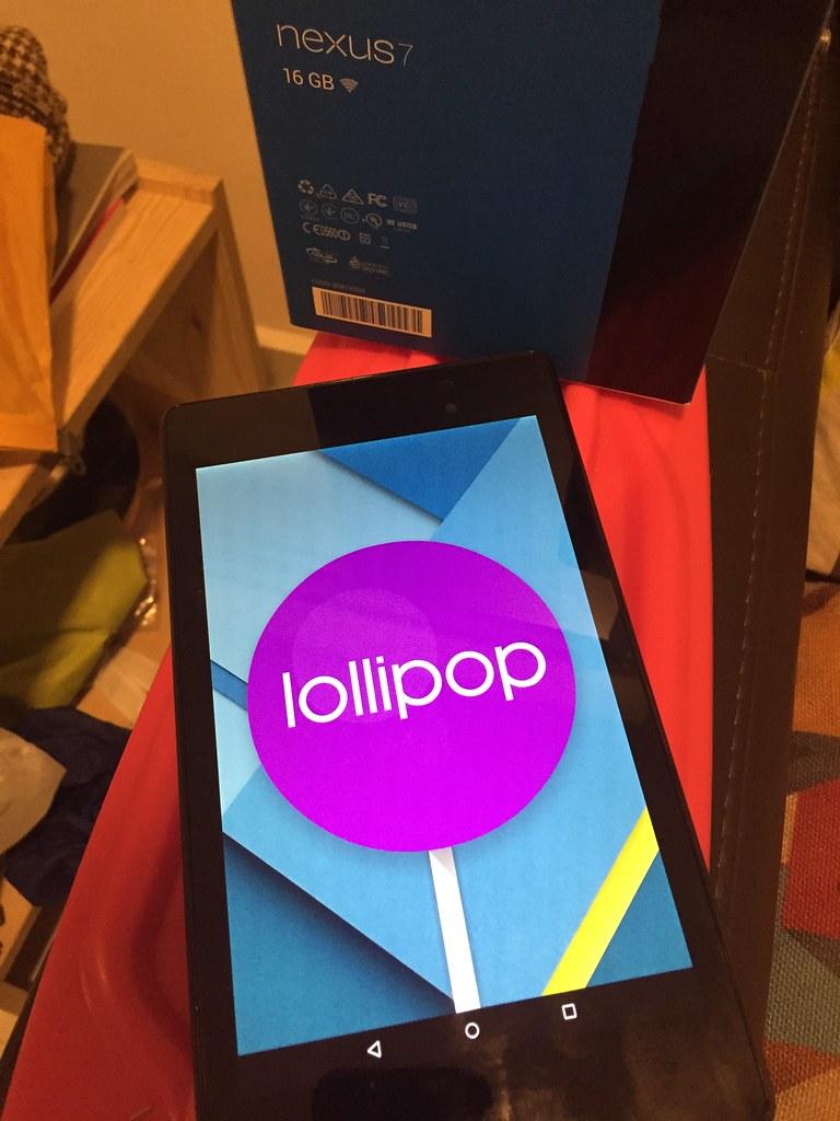 Nexus 7 running lollipop aka Android 5