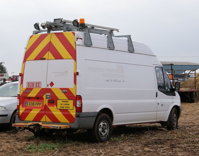 EX08 FPP - 828 EE  2008  FORD TRANSIT 115 T350L RWD LWB  Panel Van  ex  WESTERN  POWER  DISTRIBUTION  Photo 1