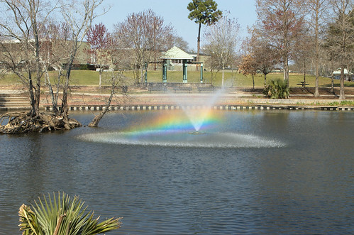 park fountain rainbow pond louisiana lafayette nikond70 girardpark