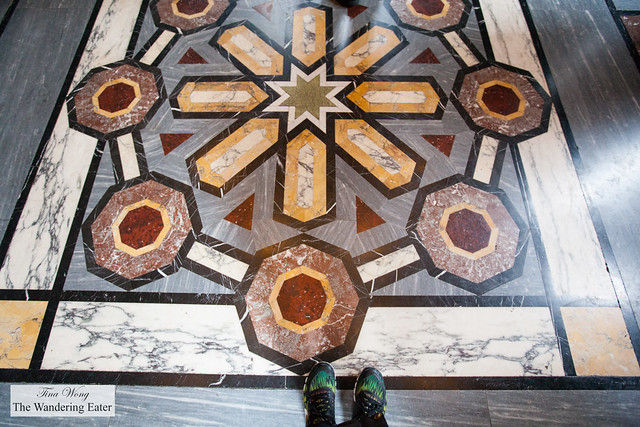 Marble flooring at The Arab Room at Cardiff Castle
