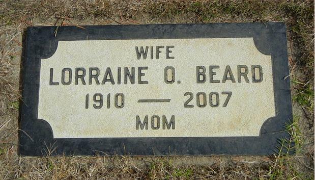 Lorraine Beard's Resting Place