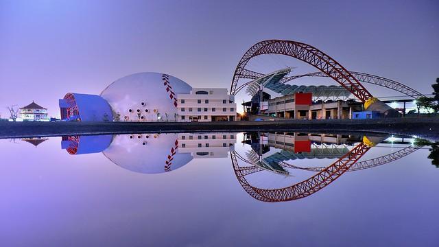 台中洲際棒球場~月光倒影~  Taichung International Baseball Stadium Moonlight
