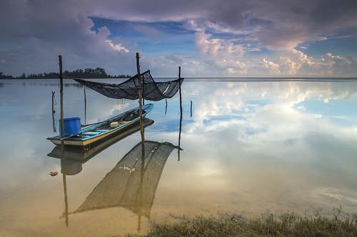 reflection beach landscape island serene kelantan tumpat jubakarpantai