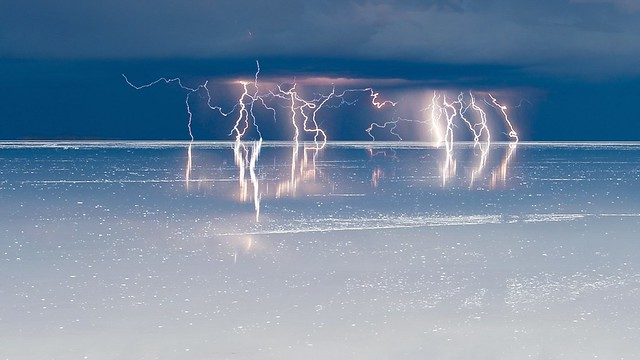 Lightning over Salar de Uyuni