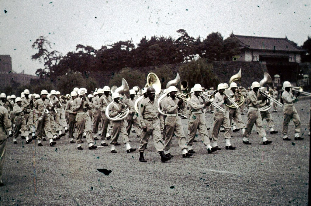 Military Marching Band - Tokyo at Imperial Palace - mid 19