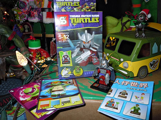 "Sheng Yuan TEENAGE MUTANT NINJA TURTLES :: ""SHREDDER"" Bootleg Minifigure Set ii (( 2014 )) 