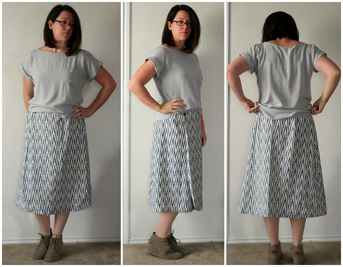 feb 2 vintage pledge ikat skirt pale collage | by wandering spirit designs