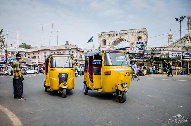 Rickshaws.